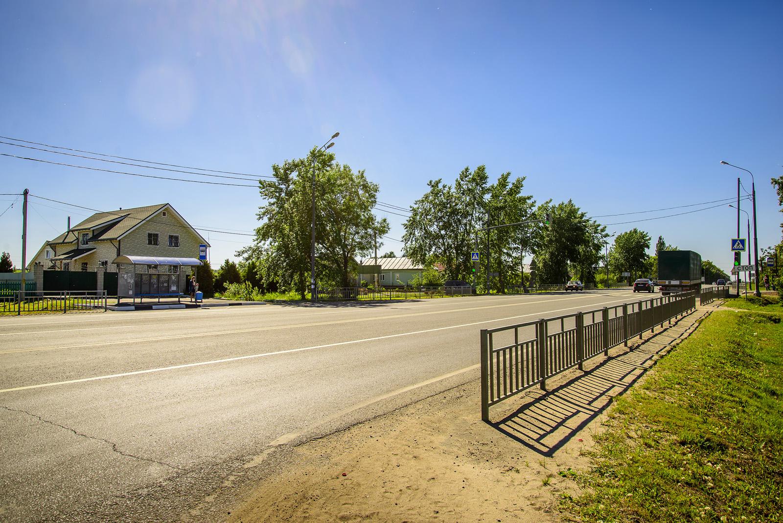 Остановка автобуса на повороте к Морозово